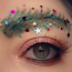 People are now decorating their eyebrows for Christmas