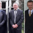 Mourners gather to make 'sense of the senseless' as father and son are laid to rest