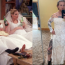 Man models his ex's wedding dress to sell it online
